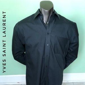 Yves Saint Laurent YSL Vintage Black Dress Shirt